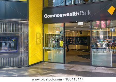 Commonwealth Bank Branch Entrance