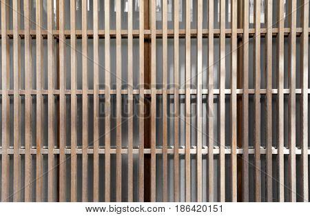 Translucent Japanese wooden slide door background texture