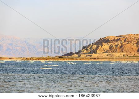 A far  shore at the Dead sea