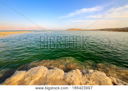 Salt Lumps At Shore Of The Dead Sea