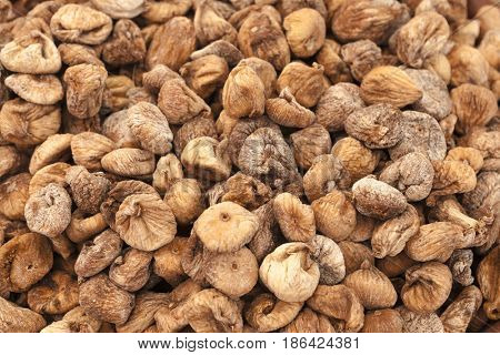 Appetizing background of Egyptian dried figs.