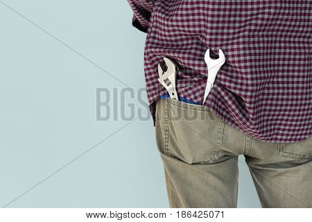 Male Mechanic Engineer Tools Pocket