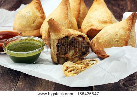 Indian Special Traditional Street Food Punjabi Samosa