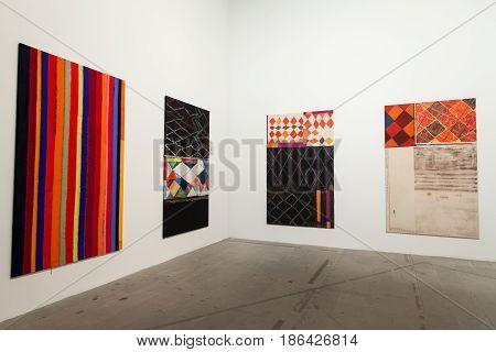 VENICE ITALY - MAY 10: Installation view of work by Teresa Lanceta