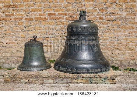 Two old bells in Narva fortress. Ida-Viru County eastern Estonia Europe