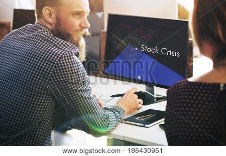 Stock Crisis Recession Loss Decrease Graph