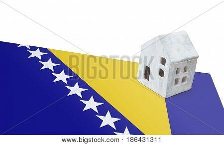 Small House On A Flag - Bosnia Herzegovina