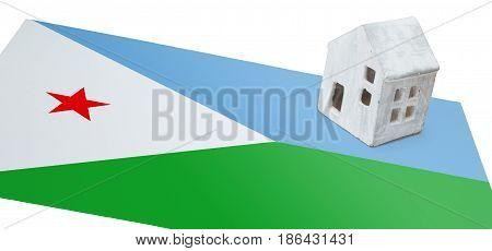 Small House On A Flag - Djibouti