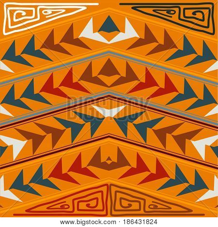 Abstract seamless texture in the tribal style. Vector illustration