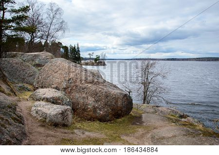 Mon repos is a rocky landscape Park on the shore of the Bay of Protective Vyborg Bay, Northern part of city Vyborg in Leningrad region. State historical-architectural and natural Museum-reserve.