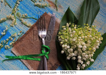 Cutlery And Lilies Of The Valley