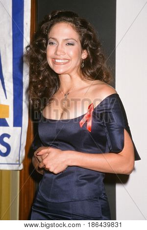 LOS ANGELES - DEC 9:  Jennifer Lopez at the 1995 NCLR Bravo Awards at the Unknown Location on December 9, 1995 in Los Angeles, CA