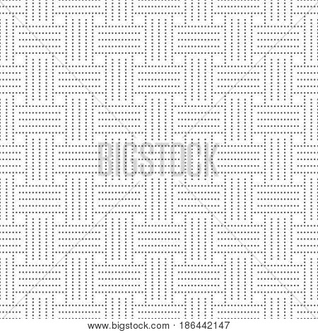 Vector seamless pattern. Abstract small dotted textured background. Modern stylish texture. Regularly repeating geometrical tiles with dots dotted lines squares. Contemporary design.