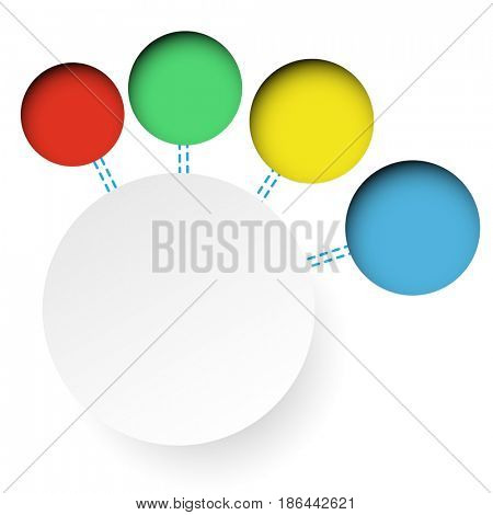 Abstract circle Infographics web design Abstract elements. Business concept options. Illustration
