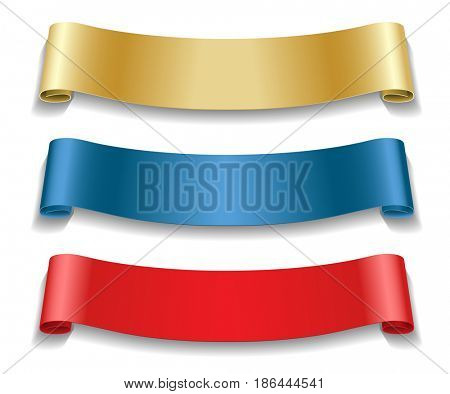 Set Ribbons isolated on white background. Holidays icon.illustration.