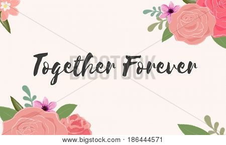 Together Forever Love Letter Message Words Graphic