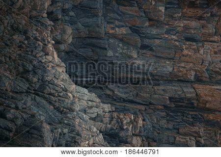 Stone mountain sharp cliff texture nature background