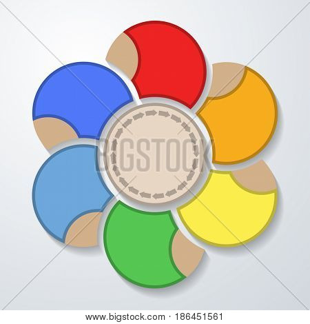 Concept Business Infographics web marketing icons for layout, diagram, annual report, design. Step options. Illustration
