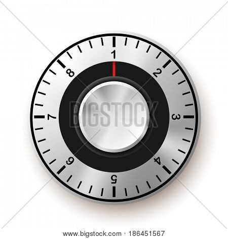Security Concept. Safe Dial Icon. illustration