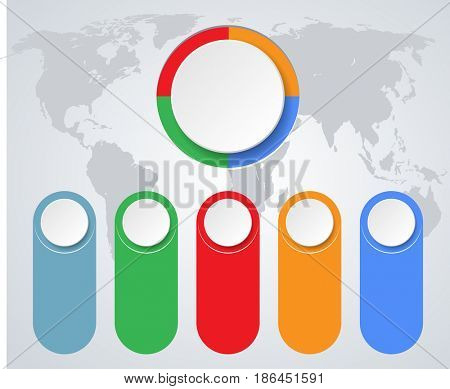 Infographics marketing icons for layout, diagram, annual report, web design. Business concept options. Illustration