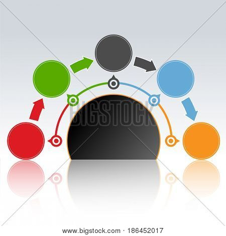 Web Design Infographics. Marketing icons for layout, diagram, annual report. Business concept options. Illustration