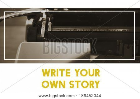 Write Your Own Story Word with Typewriter Background