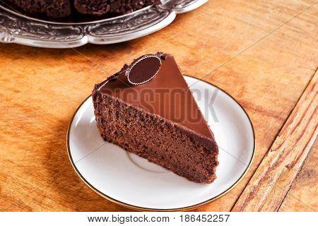 Tea time with perfect chocolate fudge cake