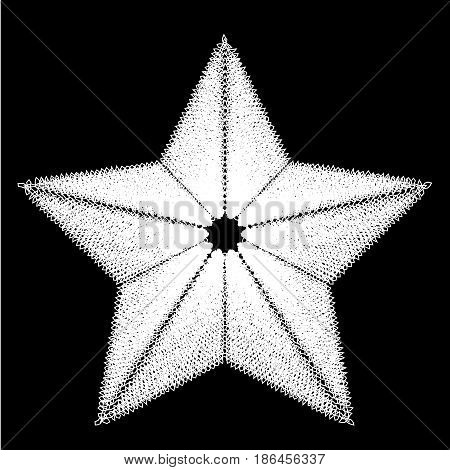 Abstract star. Design element. Black and white. Vector illustration.
