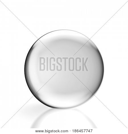 classic crystal ball 3d rendering image on white background