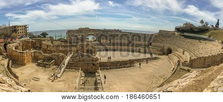 The grandios amphitheater, a construction of the past centuries