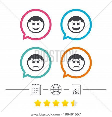 Circle Smile Face Icons Happy Vector Photo Bigstock