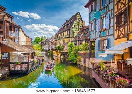 Historic Town Of Colmar, Alsace, France