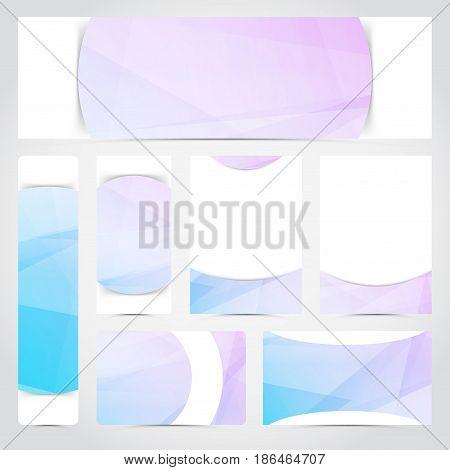 Modern designed brochure card flyer layout template. Vector illustration