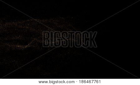 Abstract background consisting of small particles. 3d rendering