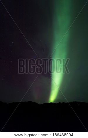 The Northern Light Aurora borealis at Kirkjufell West Iceland