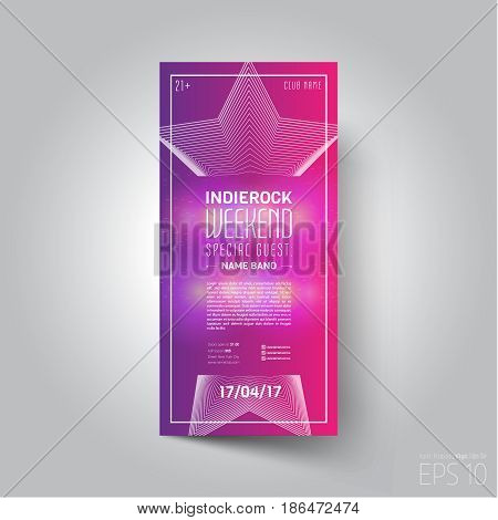 Vector design template. Suitable for poster, promotional leaflet, invitation, ad or banner.