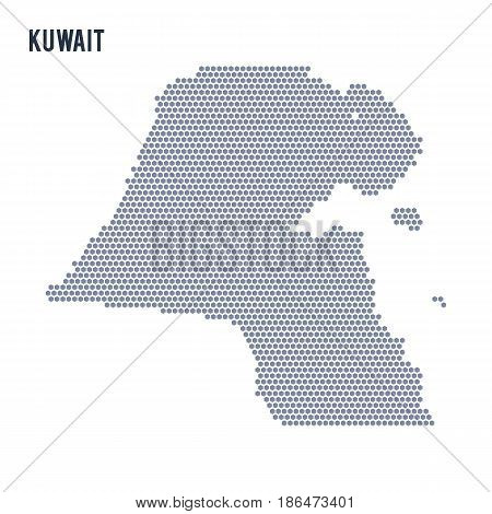 Vector hexagon map of Kuwait . Business space in the country