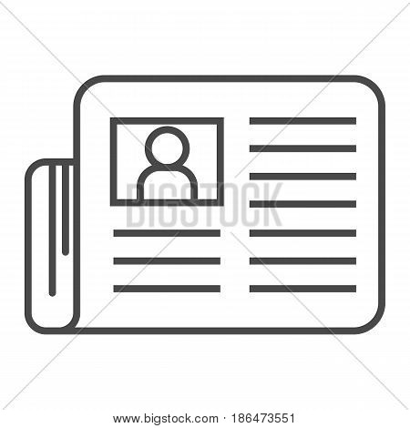 Mass press icon vector illustration isolated on white background. Global printing press, world news, newspaper linear pictogram.