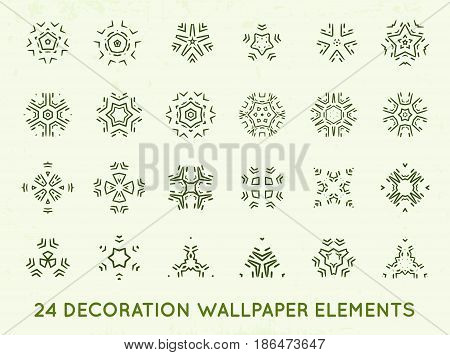 Set of minimal decoration background vintage shapes collection