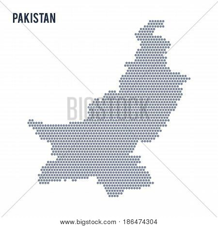 Vector hexagon map of Pakistan . Business space in the country