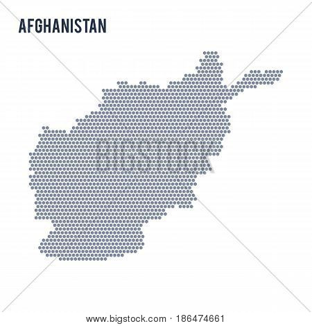 Vector hexagon map of Afghanistan . Business space in the country