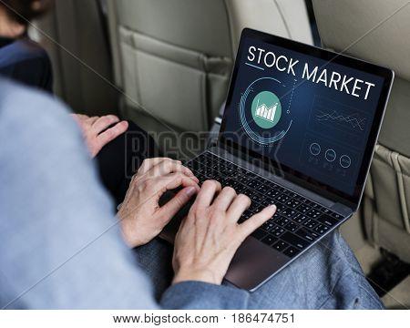 Stock Market Trading Investment Venture Economics Analysis Chart Graph