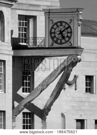 ornate victorian clock on leeds civic hall - town hall