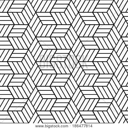 Seamless Op Art Pattern. 3D Illusion.