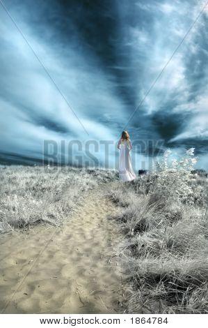 Woman On A Path