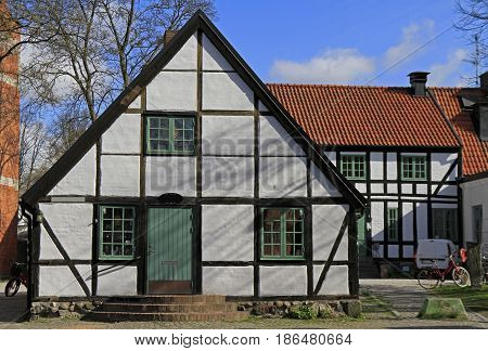 Timber Frame Building In Lund