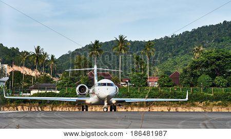 Plane On Airstrip
