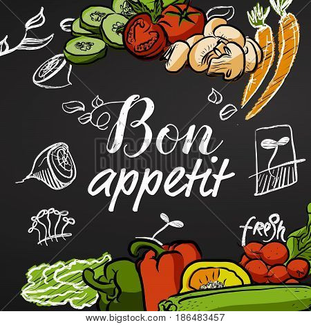 Bon Appetit Chalkboard Banner