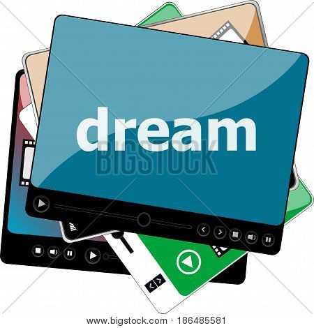 Video Media Player For Web With Text Dream