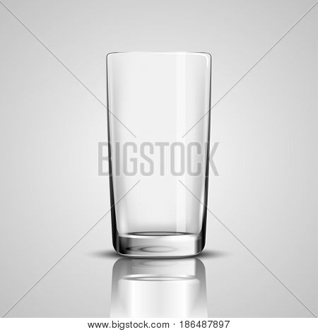 Empty Glass Cup  Illustration